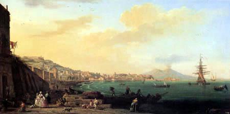 Claude-Joseph Vernet - Blick auf Neapel mit Vesuv