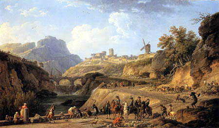 Claude-Joseph Vernet - The building of a large road