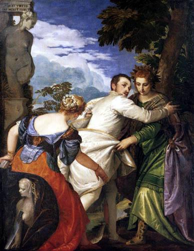 Paolo Veronese (Caliari, Cagliari) - Allegory of the virtue and the vice