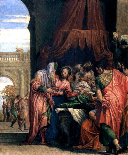 Paolo Veronese (Caliari, Cagliari) - Auferweckung der Tochter des Jairus