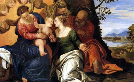 Paolo Veronese (Caliari, Cagliari) - Die mystische Vermählung der hl. Katharina