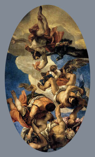 Paolo Veronese (Caliari, Cagliari) - Jupiter schleudert Blitze gegen das Laster
