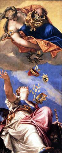 Paolo Veronese (Caliari, Cagliari) - Juno schüttet Gaben über Venetia aus