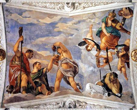 Paolo Veronese (Caliari, Cagliari) - Bacchus, Vertumnus und Saturn