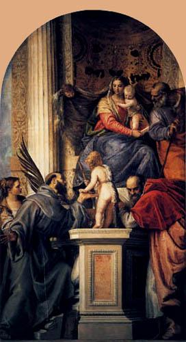 Paolo Veronese (Caliari, Cagliari) - Thronende Madonna mit Kind