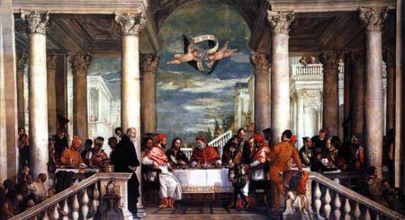 Paolo Veronese (Veronés) - El banquete de Gregorio I Magno