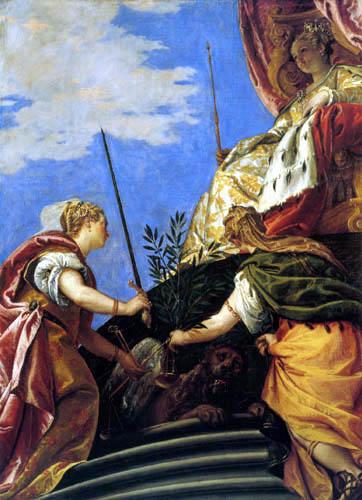 Paolo Veronese (Caliari, Cagliari) - Venetia zwischen Justitia und Pax