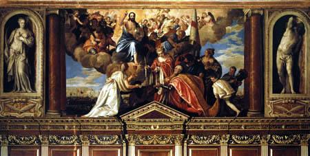 Paolo Veronese (Caliari, Cagliari) - Votivbild des Dogen Sebastiano Venier