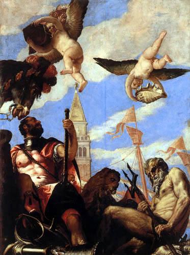 Paolo Veronese (Caliari, Cagliari) - Neptun und Mars