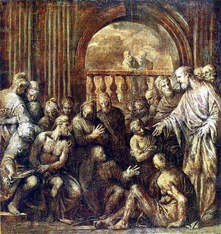 Paolo Veronese (Caliari, Cagliari) - Awakening of Lazarus