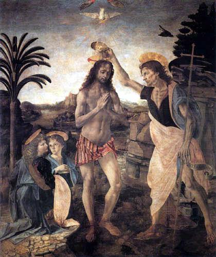 Andrea del Verrocchio (A.d. Cione) - Taufe Christi