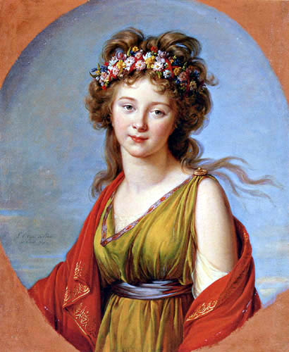 Elisabeth-Louise Vigée-Lebrun - Porträt der Gräfin Kagenek als Flora