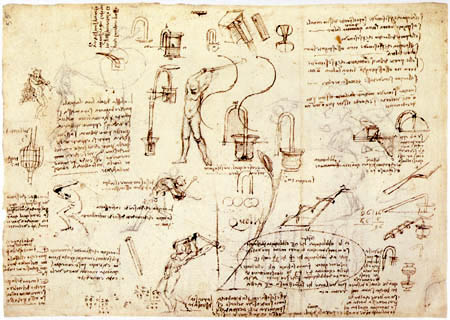 Leonardo da Vinci - Studys of movements