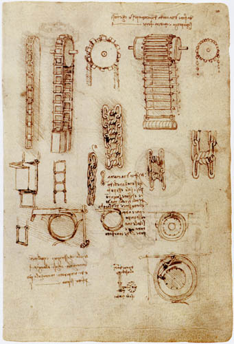 Leonardo da Vinci - Getriebestudien