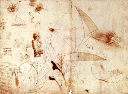 Leonardo da Vinci - Perspektivisches Studienblatt