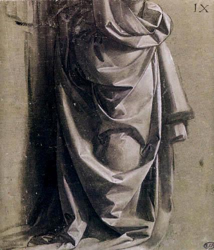 Leonardo da Vinci - Draperie für eine stehende Figur