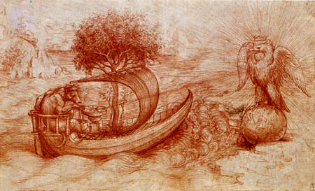 Leonardo da Vinci - Allegorie of the wolf and the eagle