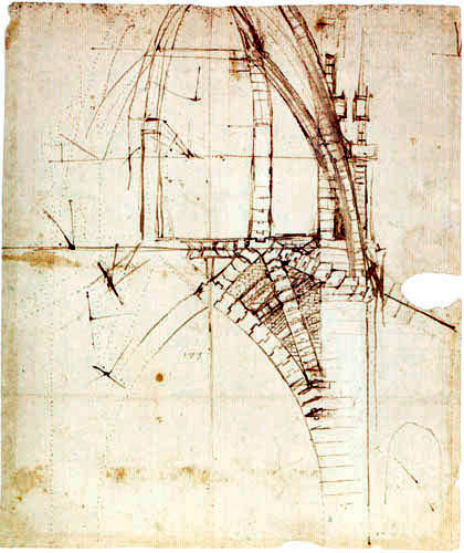 Leonardo da Vinci - Design for the dome of the Milan Cathedral