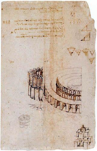 Leonardo da Vinci - Studien antiker Arenen