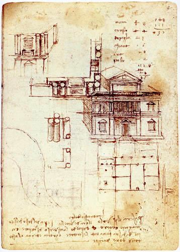 Leonardo da Vinci - Variationen über den Palazzo Caprini