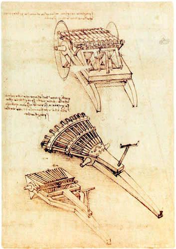 Leonardo da Vinci - Orgelgeschütz
