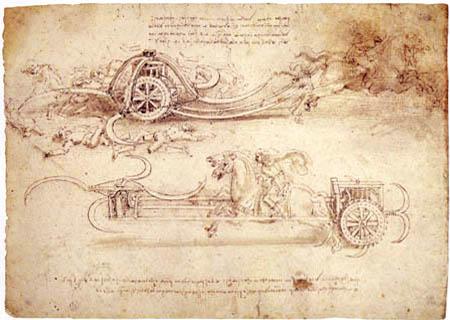 Leonardo da Vinci - Streitwagen mit beweglichen Sicheln