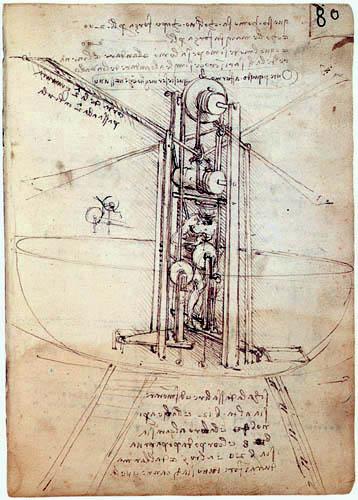 Leonardo da Vinci - Senkrechtflugmaschine