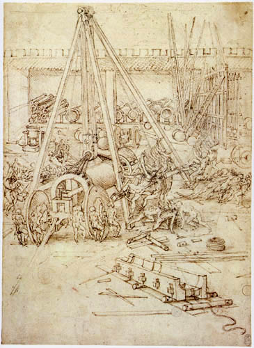 Leonardo da Vinci - Foundry artillery