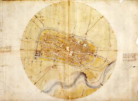 Leonardo da Vinci - Plan von Imola
