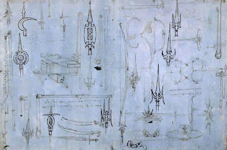 Leonardo da Vinci - Studie zu Waffenspitzen