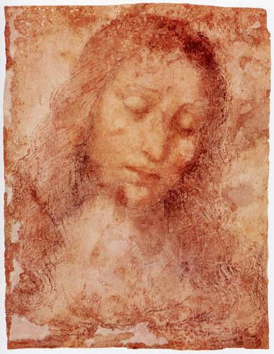 Leonardo da Vinci - Study for the Head of Christ of Lord's Supper