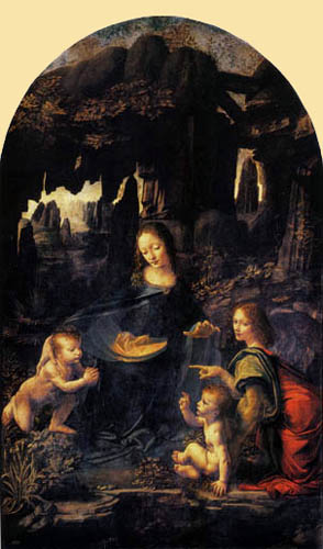 Leonardo da Vinci - The Madonna of the Rocks
