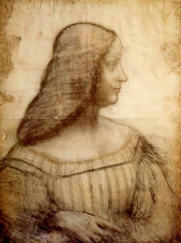 Leonardo da Vinci - Portrait of Isabella d´Este
