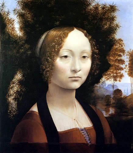 Leonardo da Vinci - Portrait of Ginevra de´Benci