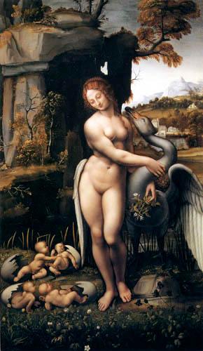 Leonardo da Vinci - Leda with swan