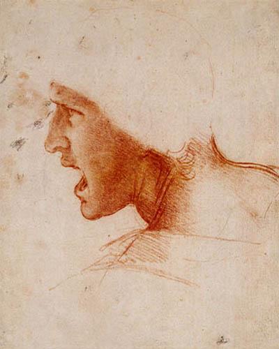 Leonardo da Vinci - Studie eines Kriegers