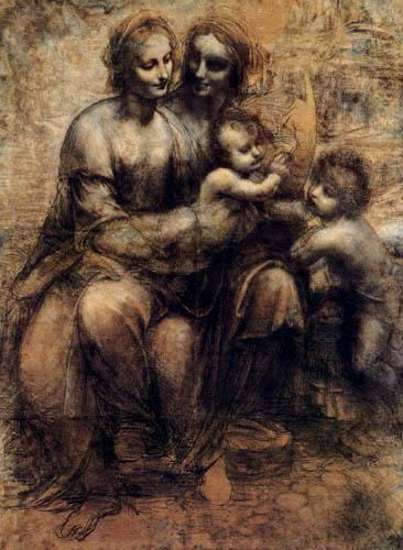 Leonardo da Vinci - Anna Selbdritt y saint Johan