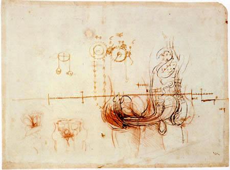 Leonardo da Vinci - Studie zum Zeugungsakt