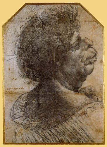 Leonardo da Vinci - Groteske Männerporträtstudie
