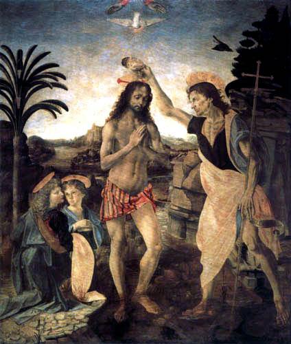 Leonardo da Vinci - Taufe Christi