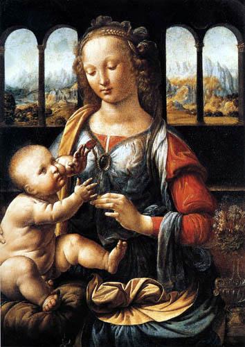 Leonardo da Vinci - Madonna with pink