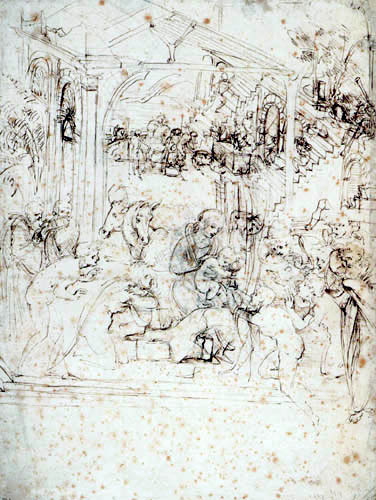 Leonardo da Vinci - Draft for the adoration of the kings