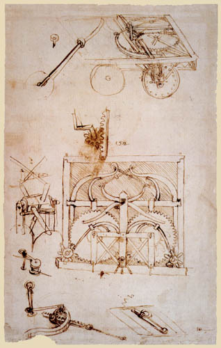 Leonardo da Vinci - Vehicle with propulsion