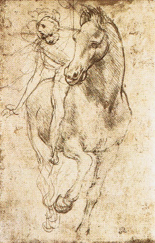 Leonardo da Vinci - Study of Horse and Rider