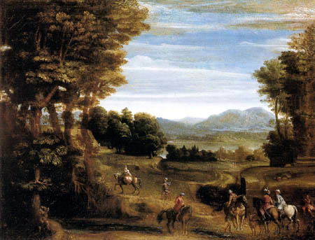 Giovanni (Gian) Battista Viola - Forest with riders