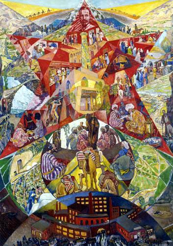 Heinrich Vogeler - Aufbau der zentralasiatischen Sowjetreplubiken