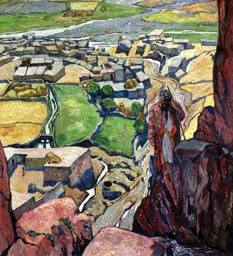 Heinrich Vogeler - Das Tal des Serawachanflusses, Samarkand