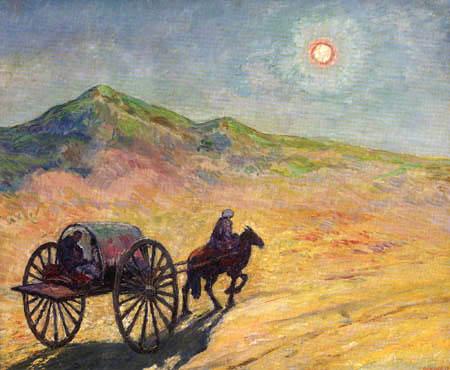 Heinrich Vogeler - Mondnacht in der usbekischen Wüste