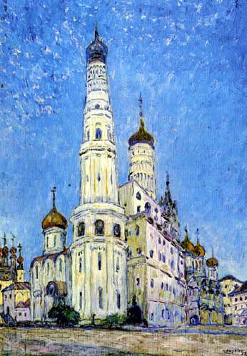 Heinrich Vogeler - Moskau Kreml - Der weisse Iwan
