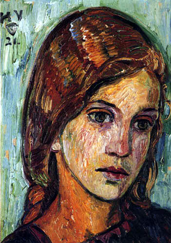 Heinrich Vogeler - Porträt Hilda Leonhardt